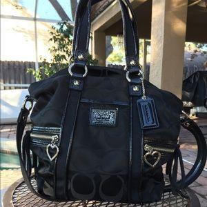 Genuine Coach Black Handbag, Used Twice